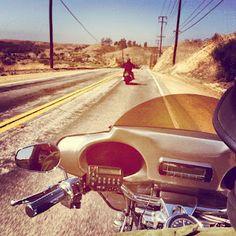 Desert Harley ride.
