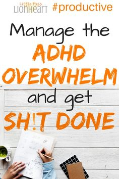 ADHD and anxiety make it hard to be get things done. Here's how to stop feeling overwhelmed and be more productive! Adhd Brain, Brain Gym, Adhd Help, Adhd Strategies, Adult Adhd, Adhd Kids, Autistic Toddler, Hacks, Anxiety Disorder