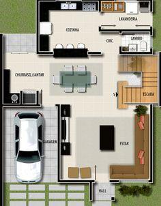 Modelos de plantas de casas pequenas para você construir!
