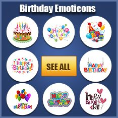 Birthday Emoticons
