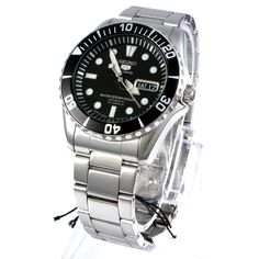 Seiko Men's SNZF17J1 5 Sports Automatic Stainless Steel Watch: Watches