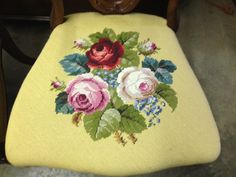 Antique 19th Cent Victorian Era Pair of Rosewood Chairs Needlepoint Upholstery | eBay