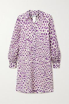 Paul & Joe Floral-print Fil CoupÉ Cotton Dress In Purple Paul And Joe, Purple Dress, Fashion Advice, World Of Fashion, Cotton Dresses, Shirt Style, Dress Outfits, Floral Prints, Menswear