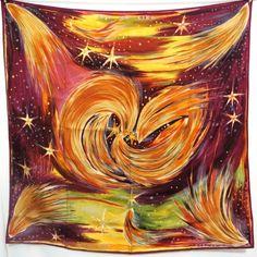carré hermès, foulard en soie,FEUX DU CIEL,Sefedin Ibrahim Alamin,scarf,  silk,tuch, 90cm,square hermès,luxe, accessoire d337bf78074