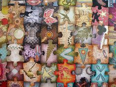 Altered Jigsaw Puzzle - PAPER CRAFTS, SCRAPBOOKING & ATCs (ARTIST TRADING CARDS)
