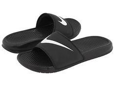 NEW! MENS NIKE BENASSI SLIDES SLIP ON SANDALS FLIP FLOPS SHOES BLACK SIZE | eBay