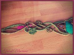 macrame tiara with chrysocolla elven fantasy, elfic, celtic, faery, fairy, boho...  https://www.facebook.com/tribalmacrame https://www.etsy.com/es/shop/TribalMacrame