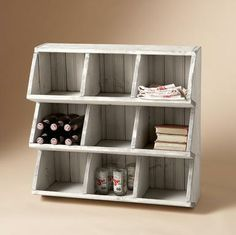 Chicken coop storage shelves Need something like these for the kids outdoor toys.