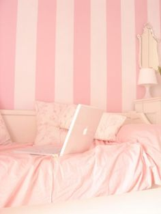 I am a girl. I like pink and I like simple things in my bedroom. Pristine.