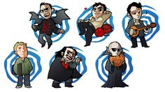 What We Do in the Shadows characters.
