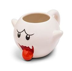 Placing this Super Mario Boo Mug in the cabinet with your other mugs may turn your kitchen into a crime scene.