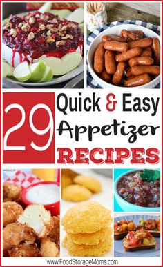 These 29 quick and easy appetizer recipes will be sure to please a crowd, without requiring you to spend hours in the kitchen!