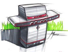 Sketch of a BBQ Grill by designer Spencer Nugent