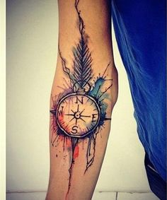 Cute Watercolor Sleeve Tattoo Ideas for Girls 2016 | Pick Your Pic ...