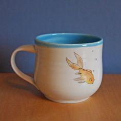 mug with hand-painted fish