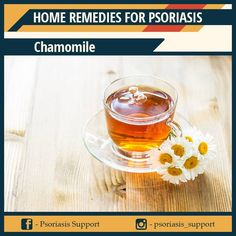 Chamomile is considered one of the best herbal remedies for psoriasis because of its various actions in the body. Firstly, chamomile is the top herb recommended for digestive issues and because it is able to help flush out toxins in the liver and kidneys this may help fight psoriasis naturally. A liver cleanse is one of the top recommendations for treating psoriasis naturally because toxins and longstanding waste can increase the risk of psoriasis flare-ups and chamomile can help in this… Home Remedies For Psoriasis, Liver Cleanse, Herbal Remedies, Herbalism, Alcoholic Drinks, Flare, Herbs, Treats, Canning