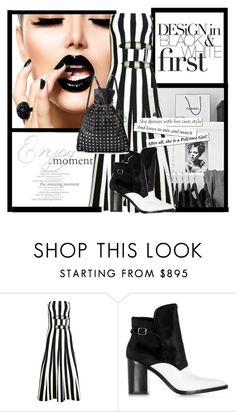 """Black & white Alexander Wang"" by curlysuebabydoll ❤ liked on Polyvore featuring Alexander Wang"