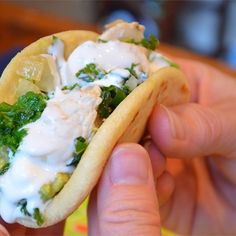"Pablito's Chicken Tacos | ""I would have never thought to put kale in a taco. Delicious."""