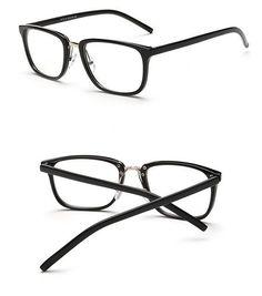VWKTUUN Oculos Rectangle Glasses Frame Women Men Eyeglasses Optical Glasses Frame Vintage Eyeglass Frames Female Fake Glasses