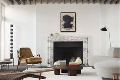 Marble, wood, interior, art, marble fireplace