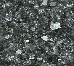 Grey Reflective 1/4 Inch Fire Glass CarlsPatio.com #fireglass #CarlsPatio