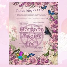 OSTARA MAGICK OILS, Witchcraft Digital Download, Book of Shadows Pages,Grimoire, Magick Spell, White Magick, Pagan Ritual, Equinox by MorganaMagickSpell on Etsy