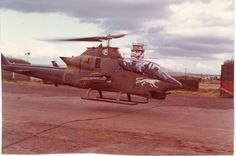 Bell AH-1 Cobra gunship of the 57th Assault Helicopter Company, Camp Holloway, 1972.
