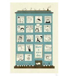 Magic House | Blanca Gomez | Baby Nursery Wall Art | Children's Prints - Brimful