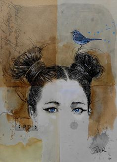 ARTFINDER: the wonder of wonderful by Loui Jover - small scale study works that i enjoy creating between larger ink works and mixed media paintings..