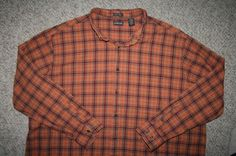 3XLT LS St. John's Bay orange cotton pocket dress shirt Mens Choice 3XL Tall 3X #StJohnsBay #ButtonFront