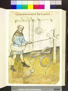 Rope maker 1425 German.  Die Hausbücher der Nürnberger Zwölfbrüderstiftungen