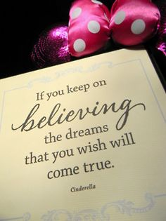 if you keep on believing...#disney #quote