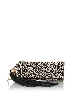 57% OFF Zac Zac Posen Women's Claudette Clutch, Snow Leopard