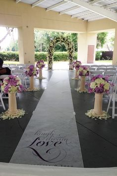 Wedding Ceremony Arch designed by Lana with Fairbanks Florist.