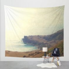 Art Wall Tapestry Sea Dream Modern photography Unique Wall Hanging home decor nautical photo photograph beach house blue ethereal hazy light