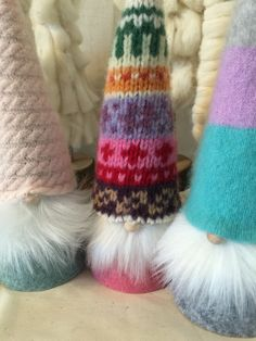 Fuzzy Sweater Gnomes! from my Etsy shop https://www.etsy.com/listing/251161401/swedish-tomte-group-d-christmas-gnomes