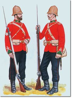 British Empire: Armed Forces: 24th Regiment of Foot, Corporal and Private