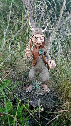 OOAK Jackalope Troll Fae Poseable Art Doll 'Harris' by FaunleyFae
