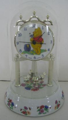 Fantasma Disney Winnie the Pooh Porcelain Anniversary Clock W/ Honey Bees Dome  #Fantasma