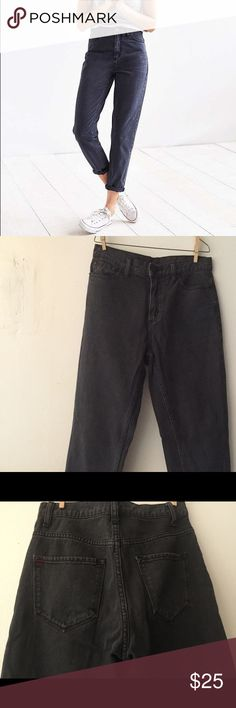 BDG Mom Jeans Urban Outfitters High Rise Mom Jeans, black.  Worn and washed once, excellent condition BDG Jeans