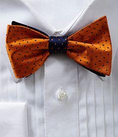 Cremieux Double Dot Silk Bow Tie