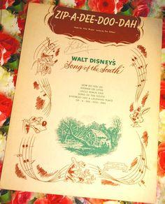 Vintage 1940s Sheet Music ZipADeeDooDah by VintageRoyalTreasure, $15.00
