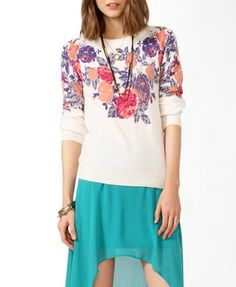 Floral Print Sweater | FOREVER 21 - 2025100674