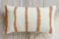 Hand-dyed Shibori Stripes Pillow by Flora Poste Studio | Minted