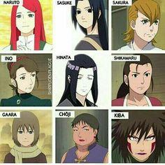 Moms in Naruto. Anime Naruto, Naruto Shippuden Sasuke, Naruto Girls, Naruto Kakashi, Naruto Fan Art, Shikamaru, Gaara, Otaku Anime, Anime Manga