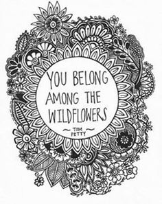 Being Unique #61: You belong among the wildflowers.Tom Petty: You belong among the wildflowers.