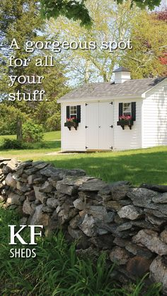 The original Kloter design. Our Signature Cape shed has everything you need - quality, strength and function. Visit our website to learn more! #sheds #kloterfarms #storagebuilding #ellington Outdoor Buildings, Outdoor Structures, Free Shed, Shed Design, Built In Storage, Sheds, Craftsman, Cape, Hardwood