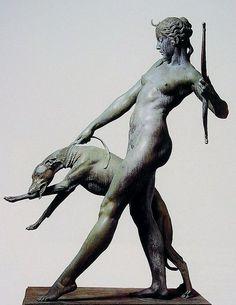 Diana bronze marble - by Edward McCartan, 1922