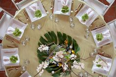 """A romantic all """"green"""" wedding on the North Shore of the island of Oahu, Hawaii. North Shore Hawaii, Hawaii Beach, Kauai Wedding, Green Table, Wedding Reception Tables, Green Wedding, Event Decor, Wedding Engagement, Wedding Inspiration"""
