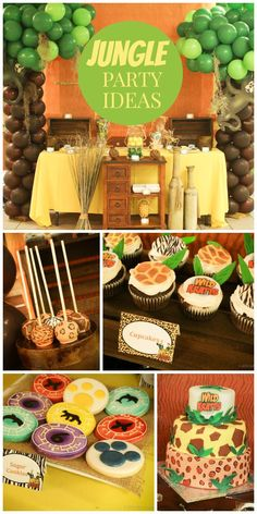 A fun Jungle Safari boy birthday party with amazing real animals!  See more party planning ideas at CatchMyParty.com!